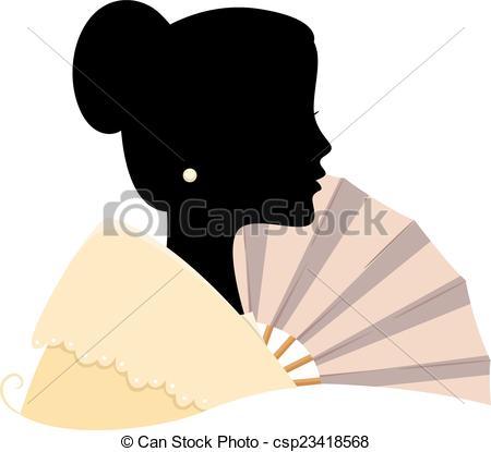 Dress clipart filipiniana Silhouette Vector Illustration Filipina of