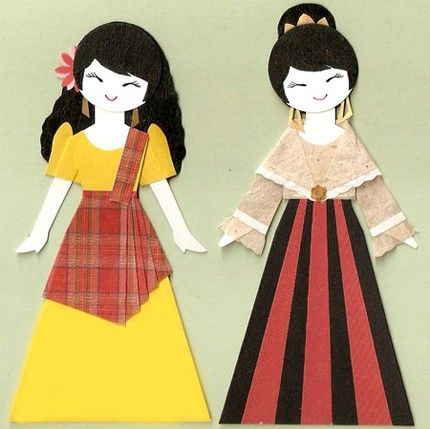 Dress clipart filipiniana Filipiniana on and about more