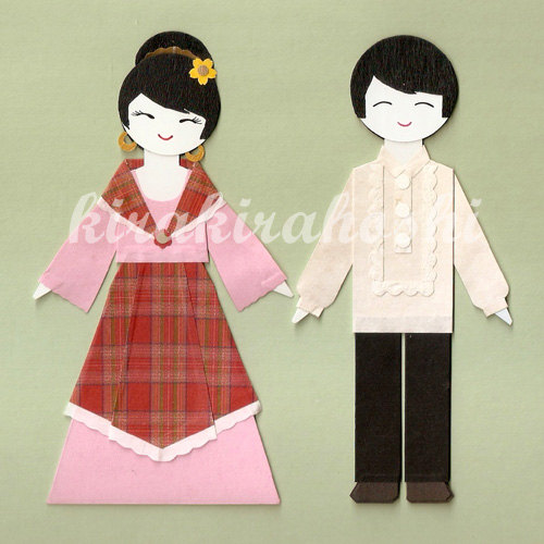 Dress clipart filipiniana Paper in girl Dolls GIRL
