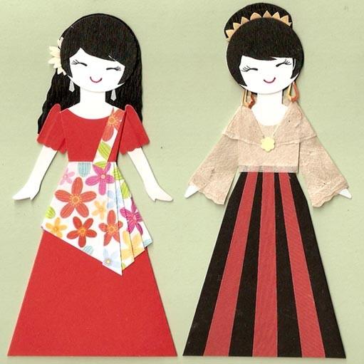 Dress clipart filipiniana 2 PAPER FILIPINO OF GIRL