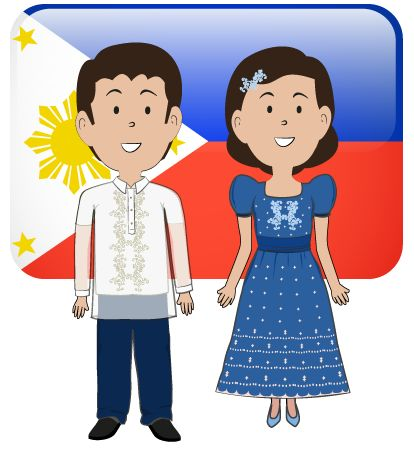 Dress clipart filipino Traditional SPU: Icons Philippines Filipino