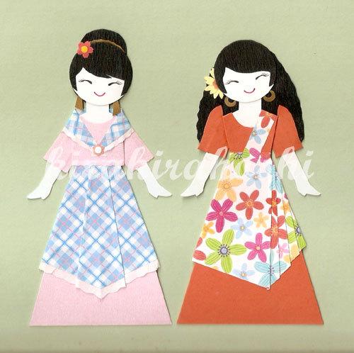 Dress clipart filipino (Set Maria Clara Paper dress