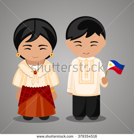 Dress clipart filipino Philippines a flag in national