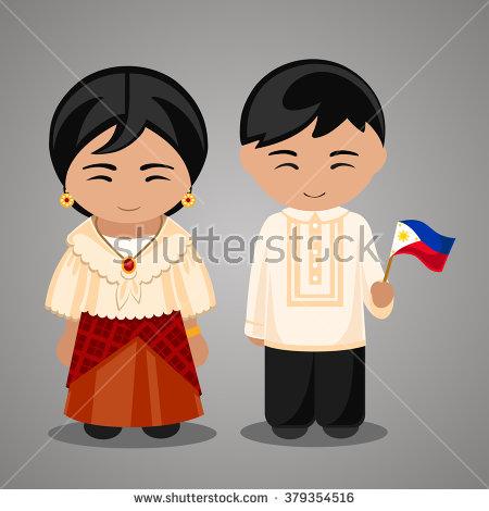 Dress clipart filipino In Philippines national dress Vietnam