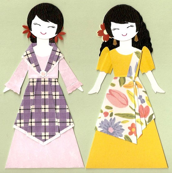 Dress clipart filipino PAPER DOLL TOPPER item? 2
