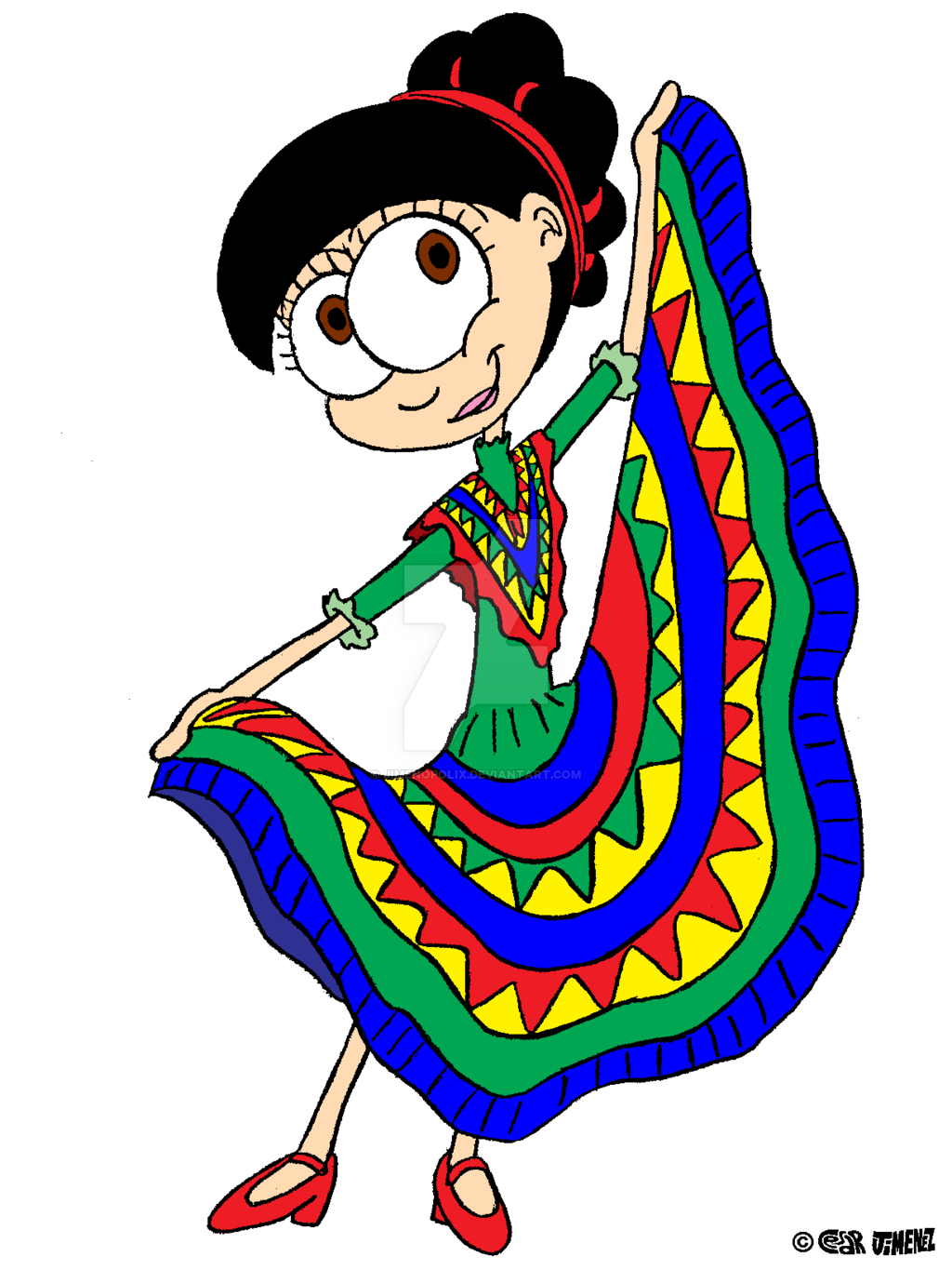 Traditional clipart mexican dancer Ballet Folklorico  For Collection