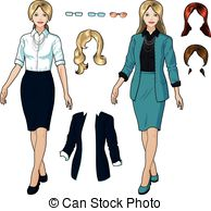 Gown clipart formal attire Caucasian 215  4 and