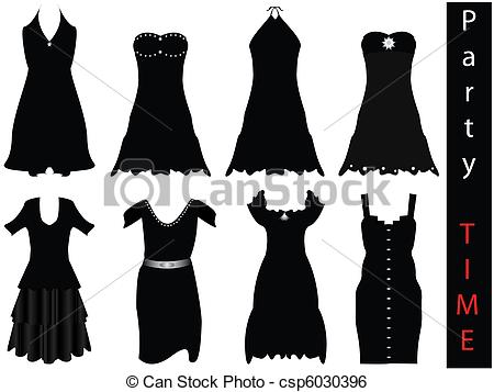 Dress clipart formal attire Vector  Clip dresses modern