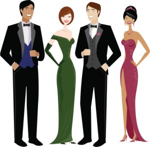 Gown clipart formal attire In People Evening Stitch In
