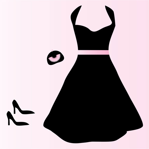 Red Dress clipart formal dress · Clipart Silhouette Formal Art