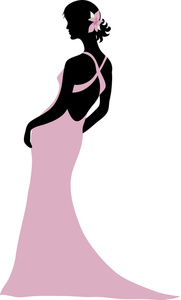 Gown clipart silhouette An in Silhouette Woman Woman