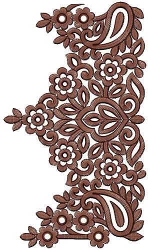 Saree clipart frock border design art #11