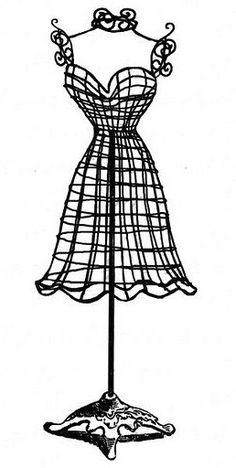 Dress clipart holder Dress Image Dress Vintage Graphics