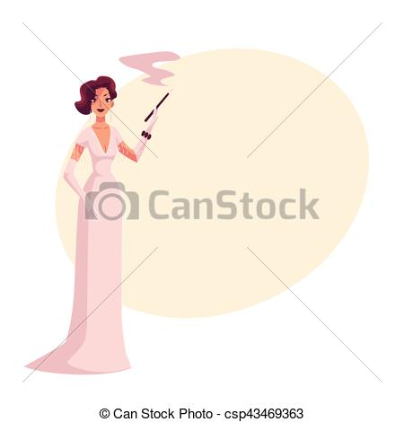 Dress clipart holder Vector 1920s gloves Woman and