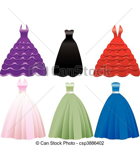 Gown clipart formal dress Of Icons Vector Dress Gown