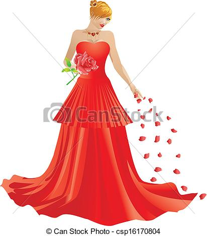 Red Dress clipart formal dress Csp16170804 red Blonde Clipart dress