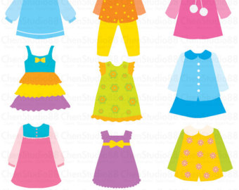 Dress clipart kid dress Clothes EPS for Digital Download