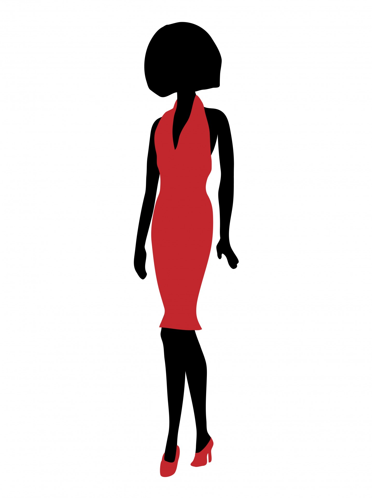 Red Dress clipart pretty lady In Public Photo Red Domain