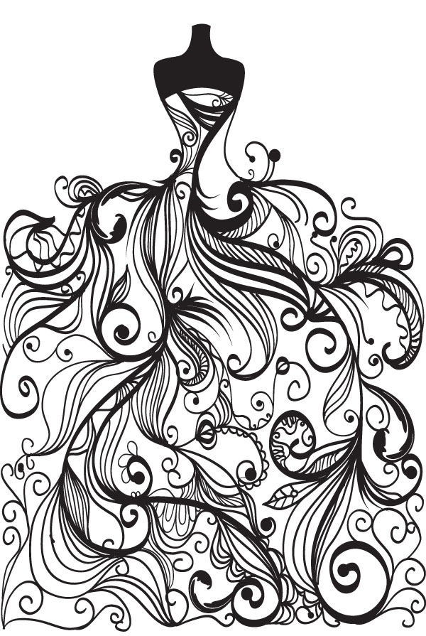 Dress clipart line art Ups  art for free