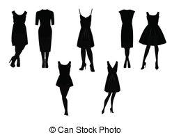 Dress clipart little black dress Royalty 1 silhouette dress Free