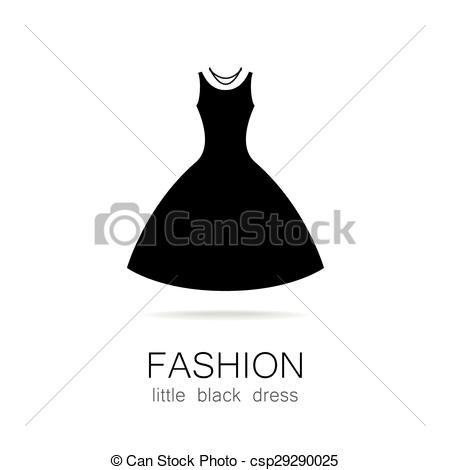 Gown clipart little black dress Little Vector black fashion Black