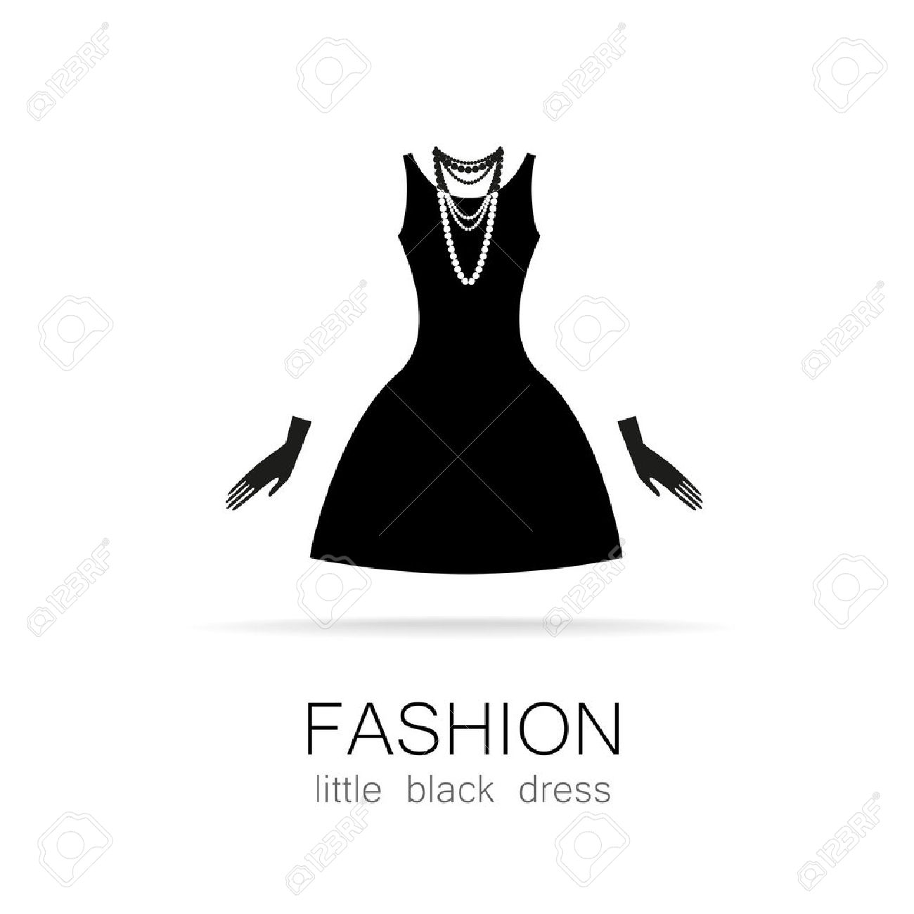 Dress clipart little black dress  Little clipart Dresses black