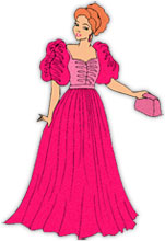 Dress clipart long dress Night out Clipart Animations dressed