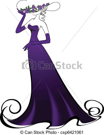 Gown clipart lady dress Lady in Stock in Clip