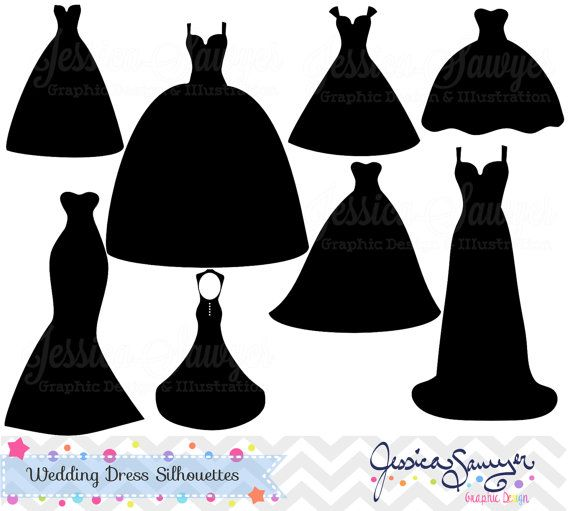 Gown clipart kid dress On clipart INSTANT dress images