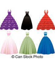 Dress clipart long dress Stock Dress Icons Dress EPS