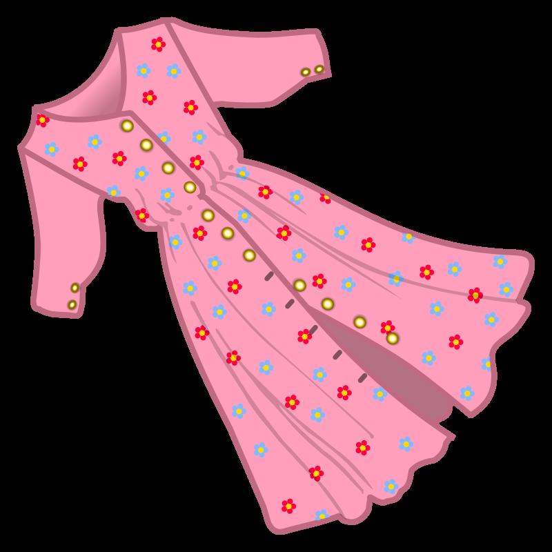 Dress clipart long dress Clipart dress MEDIUM coloured IMAGE