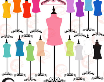 Wedding Dress clipart manikin Mannequin clipart hangers colored forms