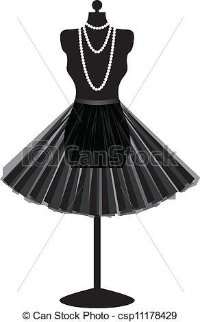 Gown clipart manikin Mannequin black Illustration black skirt