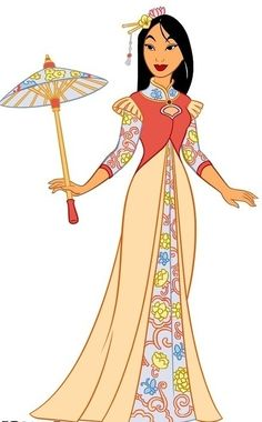 Dress clipart mulan  disney Mulan Leading princesses