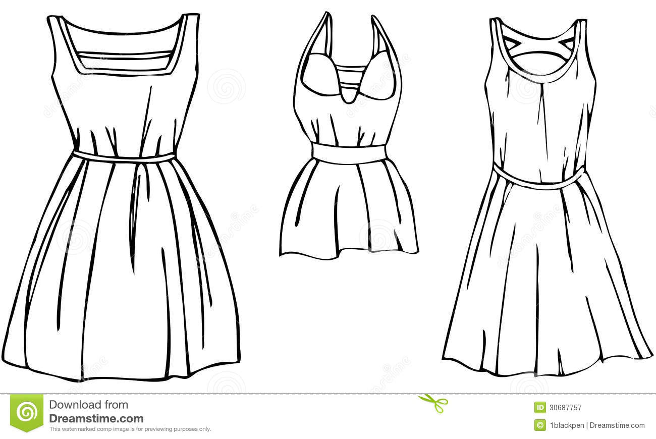 Gown clipart black and white Outfit Clipart Panda Images Free