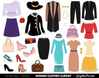 Coture clipart clothes Clothes Etsy Women Fashion clothes