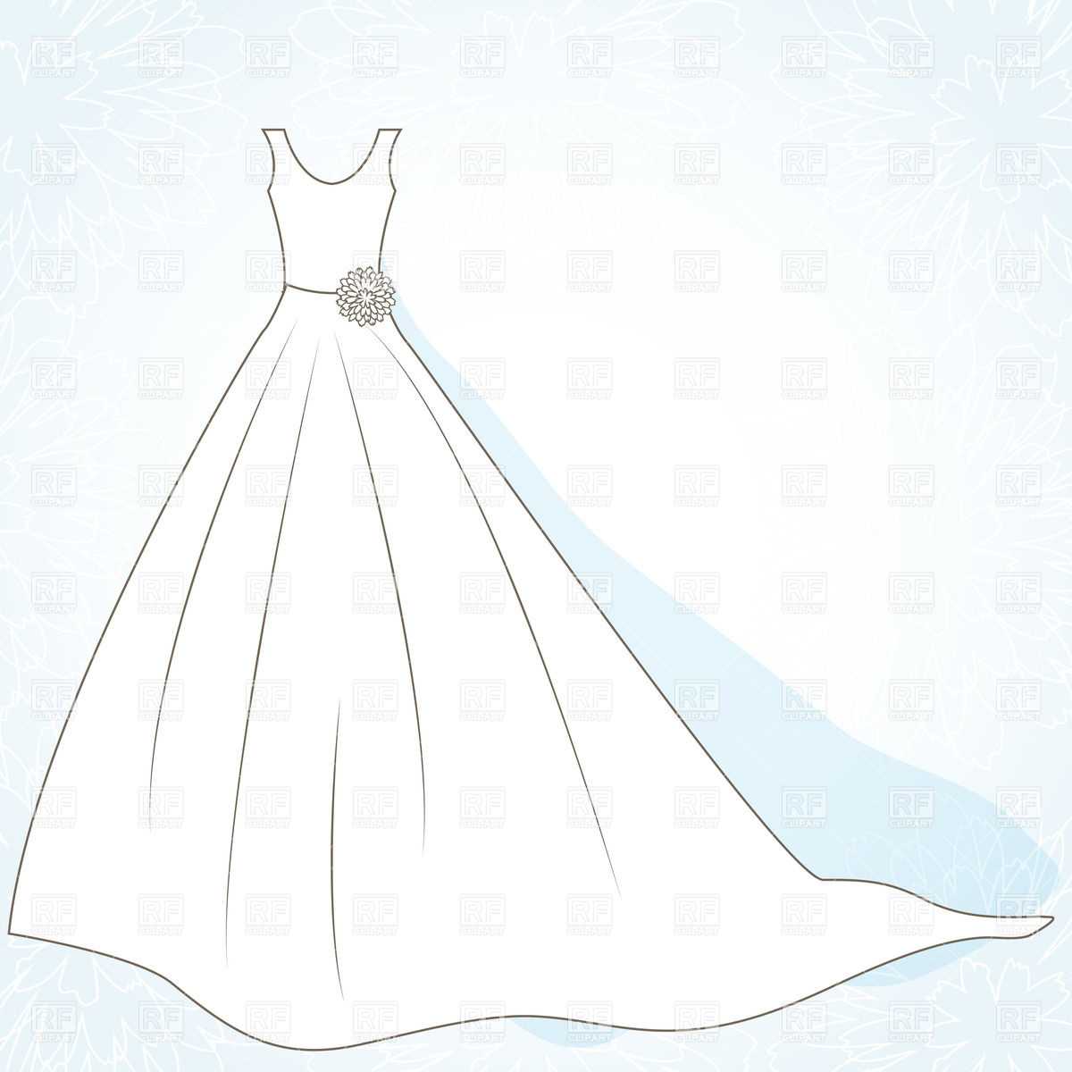 Wedding clipart outline Clipart clipart Wedding Dress clipart