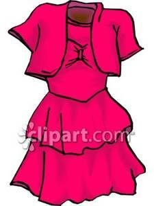 Pretty clipart short dress #2