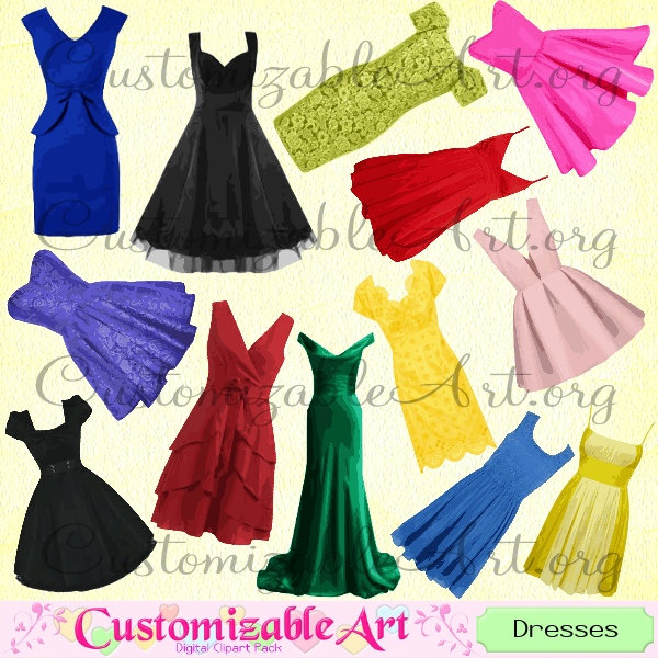 Gown clipart fashion dress Clipart Art Graphics Girl Clothing