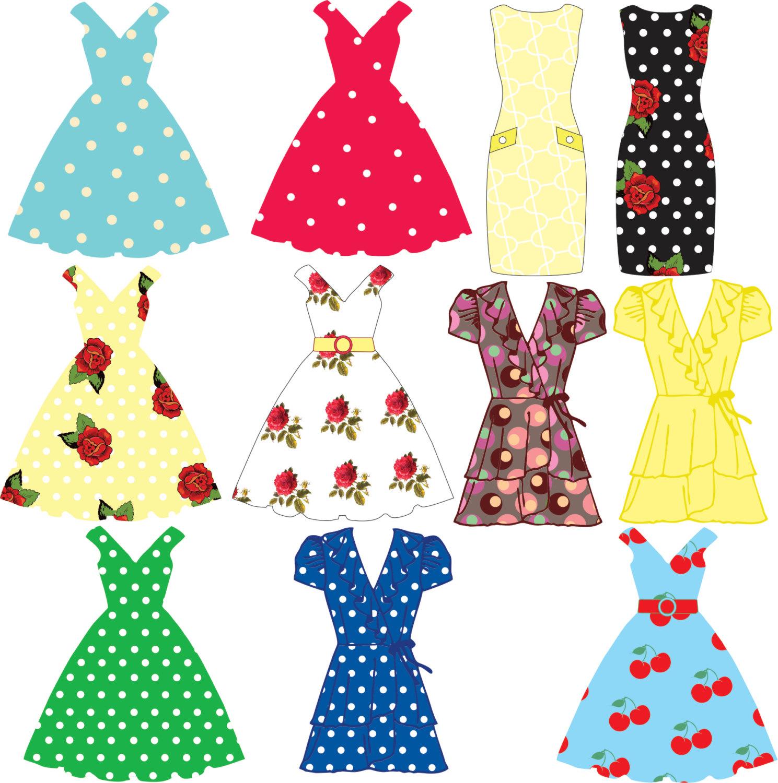 Dress clipart party dress Dress dresses tea flag party