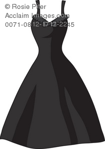 Dress clipart party dress Free of a Illustration of