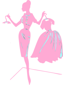 Pink Dress clipart silhouette Silhouette Clip at Silhouette Art