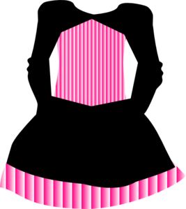Dress clipart pink Dress at Striped Clip vector