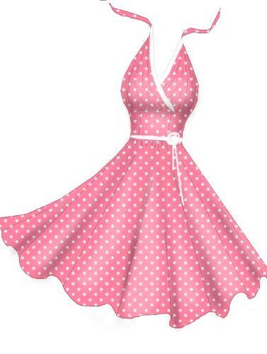 Dress clipart pink polka dot 95 Pinterest dress STUFF GIRLY/FASHION