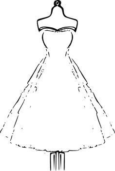 White Dress clipart color Machines Clip and Vintage Free
