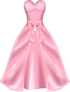 Gown clipart pink dress Vintage Vintage Printout Dress corset