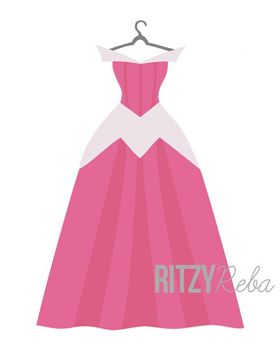 Gown clipart princess dress Nursery Disney 347 Playroom Sleeping