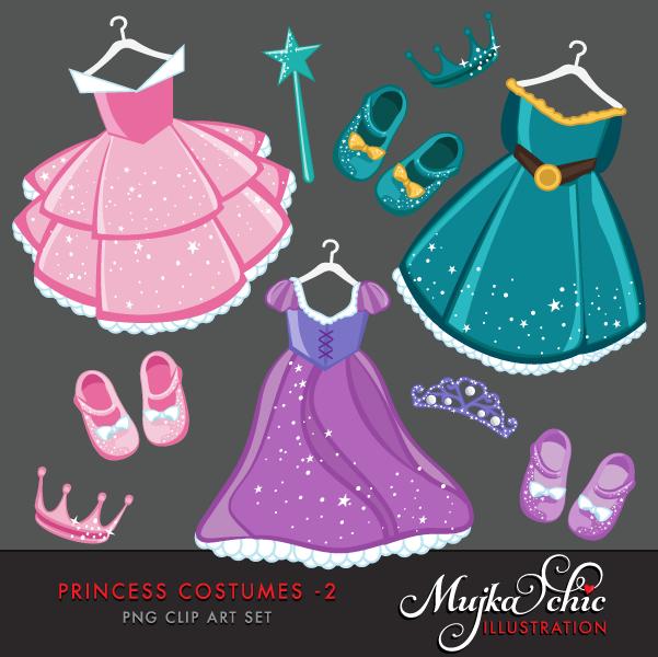 Gown clipart princess dress Princess 2 clipart Clipart 02