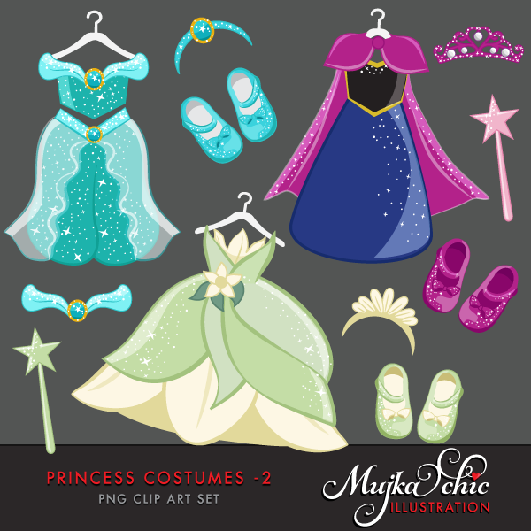 Gown clipart princess costume Costumes Princess  2 Clipart
