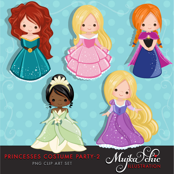 Beautiful clipart cute princess Little party princess a clipart
